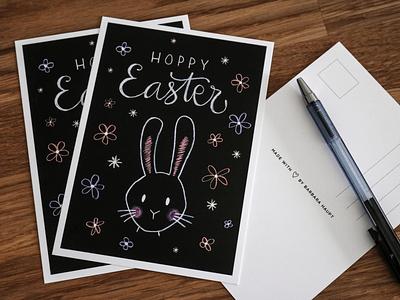 Hoppy Easter kritzelkreide kreidezeichung chalkboard chalk bunny easterbunny osterhase hase rabbit egg hoppy easter happy easter