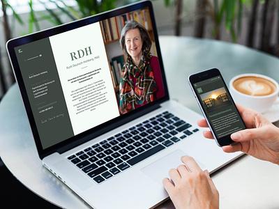Ruth Deutsch-Hohberg Website sinnerfüllung branding onepager minimalism wordpress webdesign website counseling psychological counseling psychology