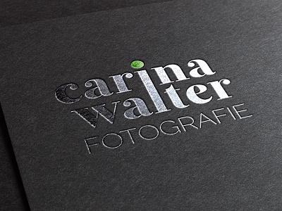 Carina Walter Fotografie logo fotografie photography black silver green stamp