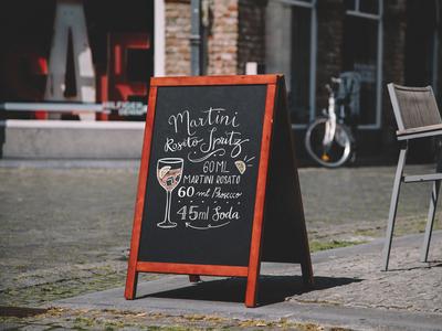 Martini Rosato Chalkboard