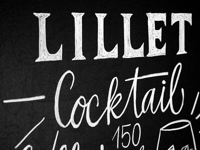 Lillet Cocktail cocktail lillet chalkboard handdrawn chalklettering calligraphy illustration typography chalk handlettering handwritten