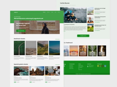 Jogja Travel Web Application - Web Design web ui travel web travel app ui research uiux illustration app design design app ui design ui landing page landingpage