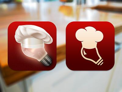 Fraternal Twins app icon bulb hat cook chef food restaurant menu