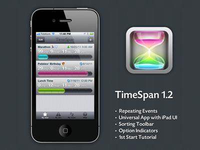 Timespan 1.2 iphone ui icon timespan reminder milestone count down