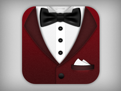 Dinner for One - Close Up dinner lunch restaurant waiter butler tuxedo bow tie shirt icon app ui interface iphone ios