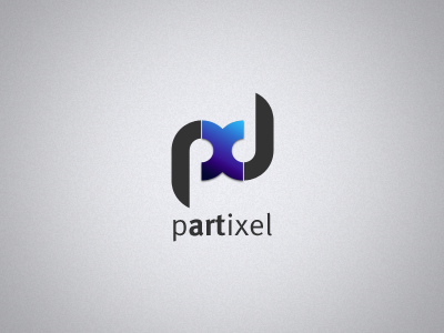 Partixel 2.0 logo corporate design corporate identity typo abstract shape circle