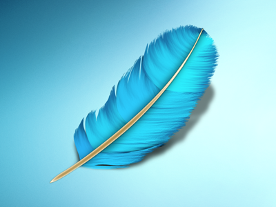 Feather.app Icon app icon twitter search feather blue bird osx mac