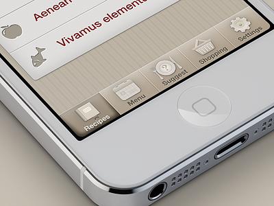 Apéritif interface tab bar tabbar icon button mobile iphone ios ui
