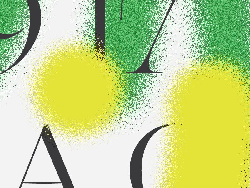 Tulsa typography type noise spray texture poster