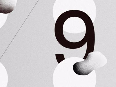 029 shape line type gradient poster