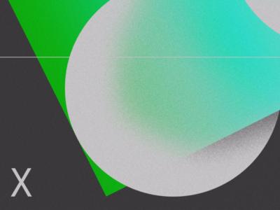 030 line color type gradient poster
