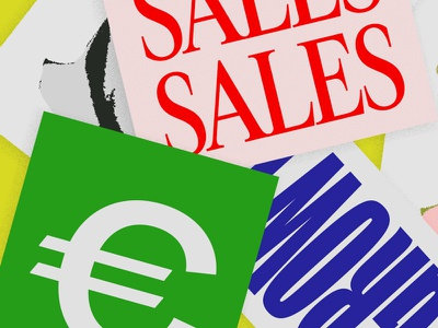SALES SALES SALES sales cards podcast typography