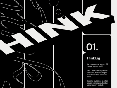 HINK black and white type poster typography