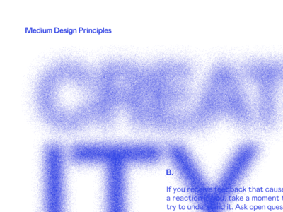 CREATITY halftone blur type poster typography