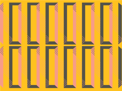Things I Made During a Layover #1 color pattern dimension illustration