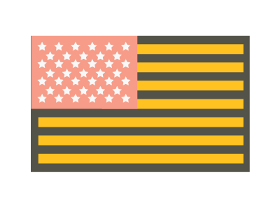 Things I Made During a Layover #2 america flag illustration