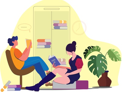 reading reading books uiuxdesign uiux ui illustration concept art concept vector illustration flat illustration
