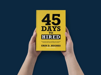 45 Days to hired typography print book cover design bookcoverdesign book cover bookcover book