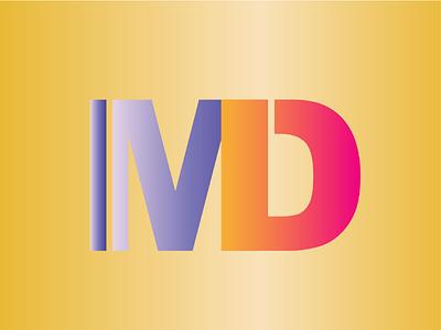 IMD Simple Logo Design gradient. typography logo design letter design