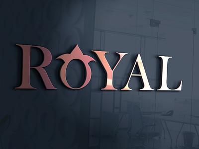 ROYAL Name Logo With Mockup logo design letter design mockup alphabet