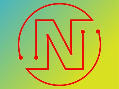 N type logo logo design illustration letter design