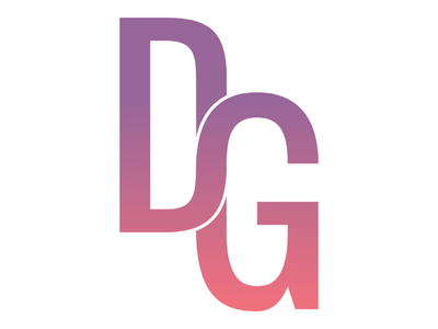Letter DG type logo design alphabet letter logo monochrome
