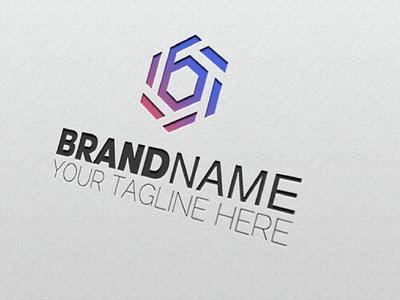 Abstract 6 type logo design image vector sign vector illustration logo