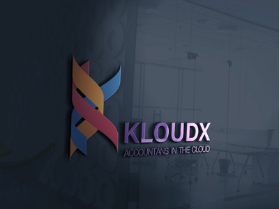 company logo design KLOUDX letter design design 3d logo 3d design