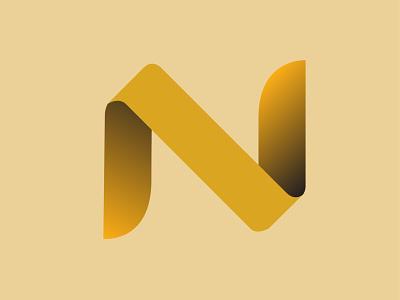 N type Logo Design typography sign letter illustrator design letter design vector logo illustration logo design