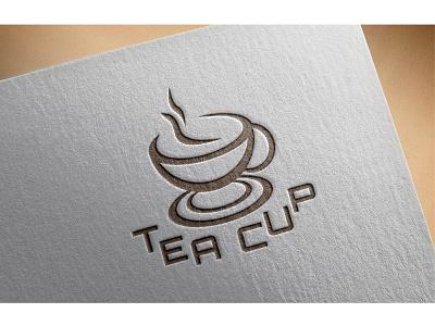TEA CUP Logo Design graphics design sign letter typography illustrator design vector letter design logo illustration logo design