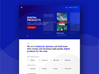 Witify website mockup portfolio web design creative agency homepage website
