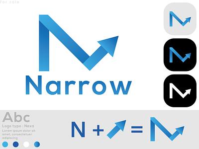 N + Arrow Modern Logo Design Concept n and arrow combination narrow n arrow n letter logo new n modern logo logo logo design logodesign