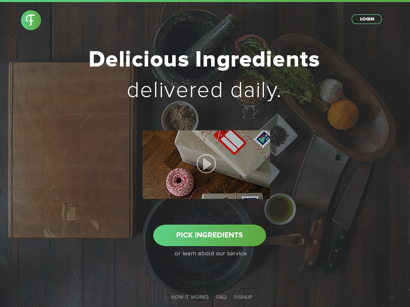 Food Delivery | UI Web Design food food delivery food subscription food startup takeaway startup takeaway delivery green gradient