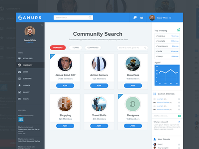 Search Page | Gamurs search search ui search page interface search interface clean interface clean ux gaming search page