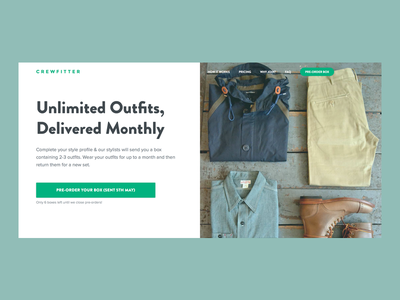 Crewfitter WIP crewfitter fashion startup menswear homepage fashion homepage fashion ui fashion ux fashion home uk startup mens clothing menswear design fashion design