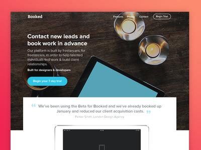 Freelancer Landing Page | WIP clean interface clean layout uk startup freelancer landing page leads peach gradient ui ux freelance freelancer