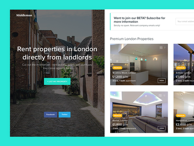 Property Rental Website rent ui property ui rental ui rental homes ux london property real estate property rental