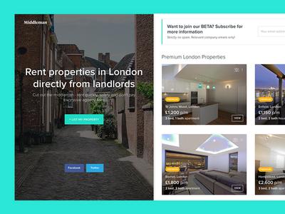 Property Rental Website rent ui property ui rental ui rental homes ux london property real estate property rental