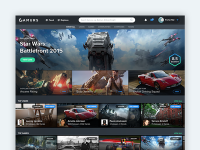 Browse UI gaming design search interface netflix search page listings profiles interface gaming ux ui search browse