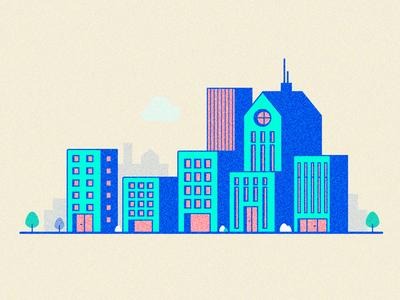 City illustration flat vector illustration design