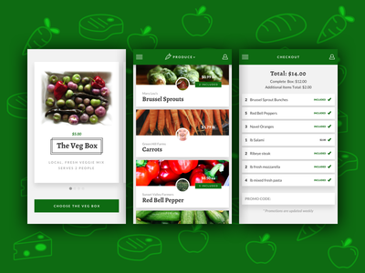 Veg Box Brief ui ux app design briefbox