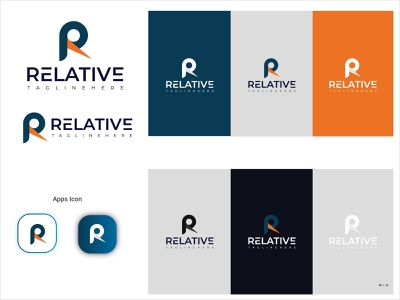 RELATIVE logo lettering illustration hoodzpah retro responsive design red responsive design 9 color clean colors branding design brand brand identity brand design branding application app animation