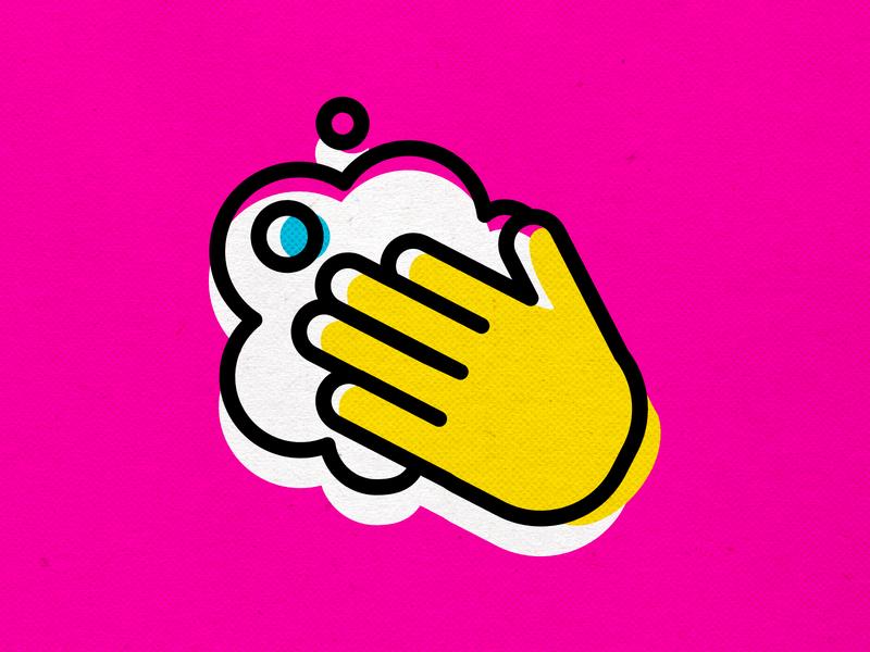 WASH spreadthewordnotthevirus coronavirus covid19 vector logo branding design icons modern cmyk illustration inkbyteatwork