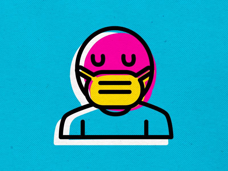 WEAR YOUR MASK EVERYWHERE coronavirus modern branding vector icons design illustration inkbyteatwork
