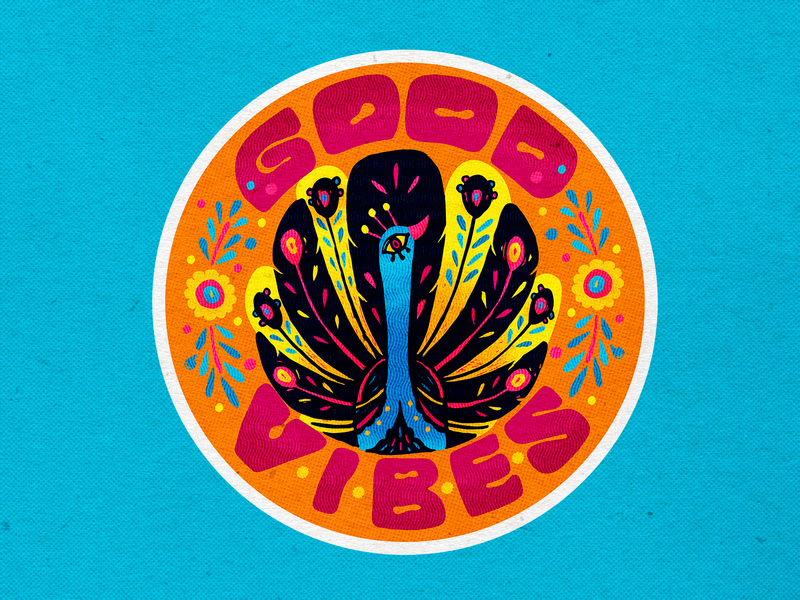 Good Vibes typography lettering logo lettering art lettering goodvibes goodvibesonly inspirational quote inspiration motivation motivational quotes culture mexican branding vector icons design modern illustration cmyk inkbyteatwork