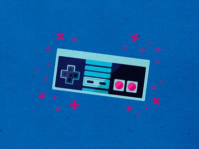 NES Control nintendo art halftone minimalist nes 8bit nintendo switch controller video game gamer geek art nintendo logo branding icons vector design modern illustration cmyk inkbyteatwork