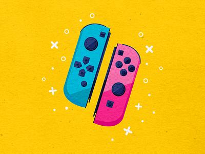 Joy-Con Controller gamers colorful videogames video game icon design icon icon set nintendo 64 joycon nintendo switch nintendo logo branding icons vector design modern illustration cmyk inkbyteatwork