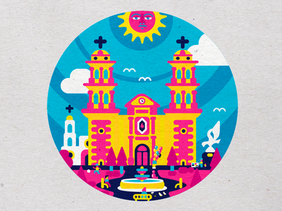 LA CATEDRAL mexican culture mexican art mexican design icon artwork icon app icon design iconography icon pack icon set icon logo mexican icons branding vector design modern illustration cmyk inkbyteatwork