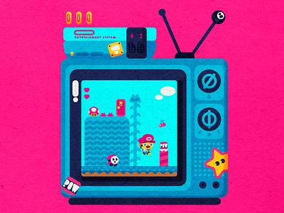 World Two nintendo icon design branding vector icons design modern illustration cmyk inkbyteatwork