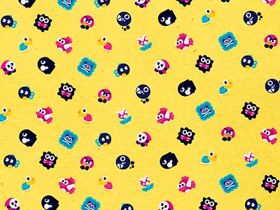 Mini Baddies nintendo switch chain chomp bobomb koopa shyguy super mario fanart nintendo branding logo vector icons design modern illustration cmyk inkbyteatwork